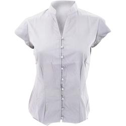 vaatteet Naiset Paitapusero / Kauluspaita Kustom Kit KK727 White