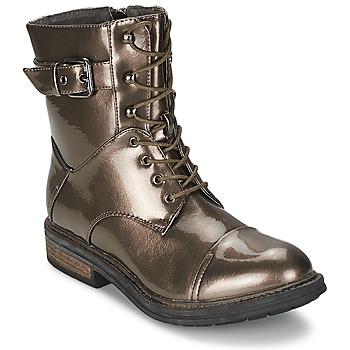 kengät Naiset Bootsit Les P'tites Bombes STONE Argenté