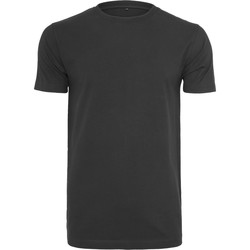 vaatteet Miehet Lyhythihainen t-paita Build Your Brand BY004 Black