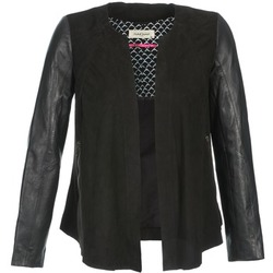 vaatteet Naiset Nahkatakit / Tekonahkatakit Naf Naf COCOTTE Black