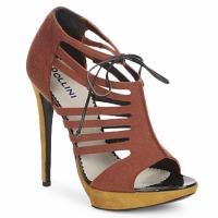 kengät Naiset Sandaalit ja avokkaat Pollini PA1602 Feltro-ruggine