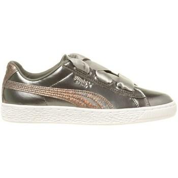 kengät Lapset Matalavartiset tennarit Puma Basket Heart Lunar Lux JR Hopeanväriset
