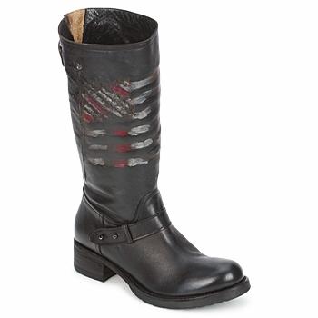 kengät Naiset Bootsit Strategia ENRO Black / Kuvioitu / Flag