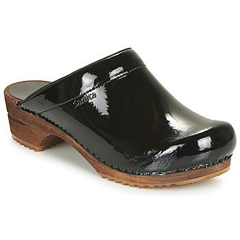 kengät Naiset Puukengät Sanita CLASSIC PATENT Musta