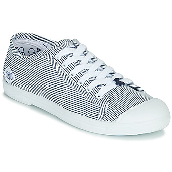 kengät Naiset Matalavartiset tennarit Le Temps des Cerises BASIC 02 Blue / White