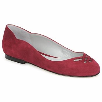 kengät Naiset Balleriinat Fred Marzo MOMONE FLAT Viininpunainen