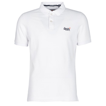 vaatteet Miehet Lyhythihainen poolopaita Superdry CLASSIC PIQUE S/S POLO White