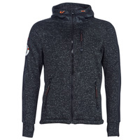 vaatteet Miehet Svetari Superdry STORM INTERNATIONAL ZIPHOOD Black