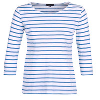 vaatteet Naiset T-paidat pitkillä hihoilla Armor Lux YAYAROULE White / Blue