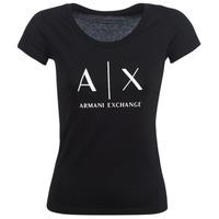 vaatteet Naiset Lyhythihainen t-paita Armani Exchange HELBATANTE Black