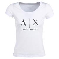 vaatteet Naiset Lyhythihainen t-paita Armani Exchange HELIAK White