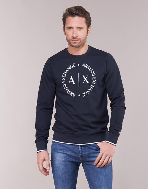 vaatteet Miehet Svetari Armani Exchange HERBARI Black