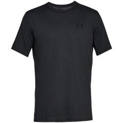 vaatteet Miehet Lyhythihainen t-paita Under Armour Sportstyle Left Chest Mustat