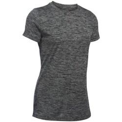 vaatteet Naiset Lyhythihainen t-paita Under Armour Tech Twist Grafiitin väriset