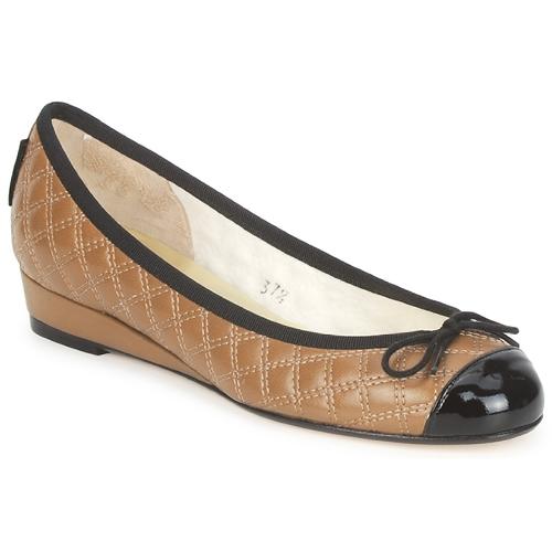 kengät Naiset Balleriinat French Sole HENRIETTA Taupe