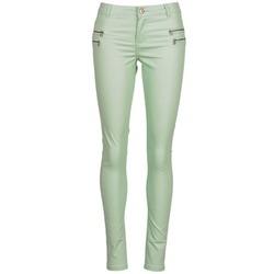 vaatteet Naiset 5-taskuiset housut Noisy May FAME Green