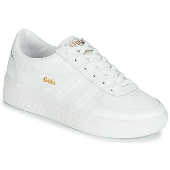 kengät Naiset Matalavartiset tennarit Gola GRANDSLAM LEATHER White