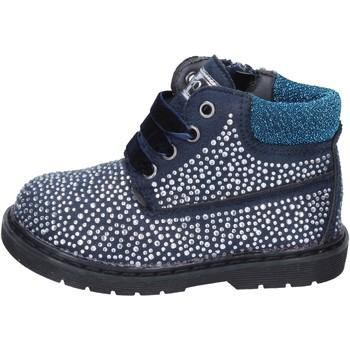 kengät Tytöt Nilkkurit Asso polacchini blu camoscio strass BT297 Blu