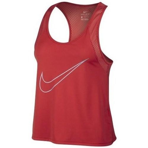vaatteet Naiset Hihattomat paidat / Hihattomat t-paidat Nike Running Tank Punainen