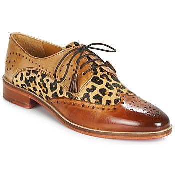 kengät Naiset Derby-kengät Melvin & Hamilton BETTY-4 Brown / Leopardi
