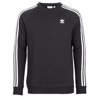 vaatteet Miehet Svetari adidas Originals 3 STRIPES CREW Musta