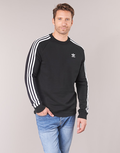 vaatteet Miehet Svetari adidas Originals 3 STRIPES CREW Black