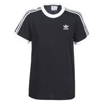 vaatteet Naiset Lyhythihainen t-paita adidas Originals 3 STRIPES TEE Black