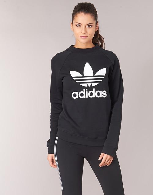 vaatteet Naiset Svetari adidas Originals TRF CREW SWEAT Musta