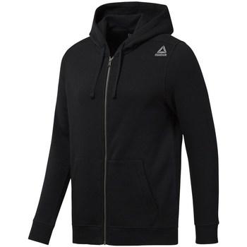 vaatteet Miehet Svetari Reebok Sport EL Fleece FZ Black Mustat