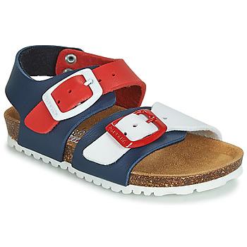 kengät Lapset Sandaalit ja avokkaat Garvalin BIO  BOY Laivastonsininen / Red / White