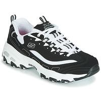 kengät Naiset Matalavartiset tennarit Skechers D'LITES Musta / Valkoinen