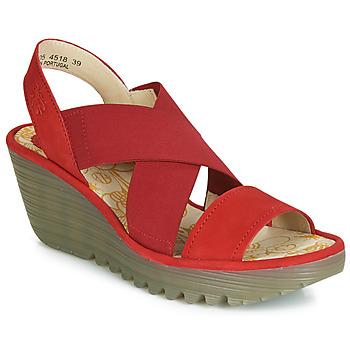 kengät Naiset Korkokengät Fly London YAJI Red