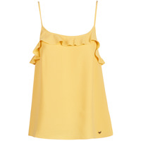 vaatteet Naiset Hihattomat paidat / Hihattomat t-paidat Les Petites Bombes AZITAFE Yellow