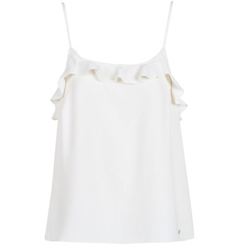 vaatteet Naiset Hihattomat paidat / Hihattomat t-paidat LPB Woman AZITAFE White