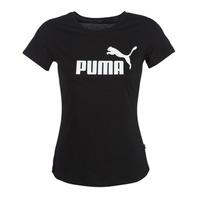 vaatteet Naiset Lyhythihainen t-paita Puma PERMA ESS TEE Black