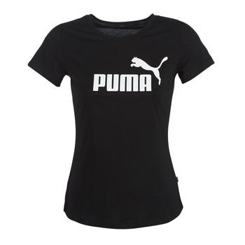 vaatteet Naiset Lyhythihainen t-paita Puma PERMA ESS TEE Musta