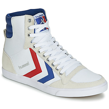 kengät Miehet Korkeavartiset tennarit Hummel TEN STAR HIGH CANVAS White / Blue / Red