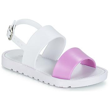 kengät Tytöt Sandaalit ja avokkaat Be Only ELEA Valkoinen / Vaaleanpunainen