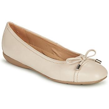 kengät Naiset Balleriinat Geox D ANNYTAH Taupe