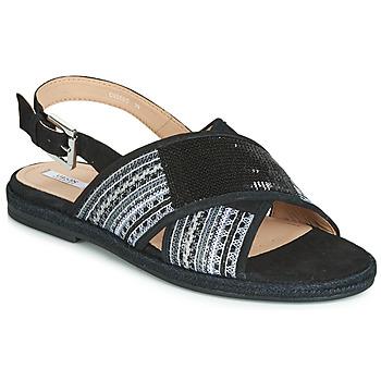 kengät Naiset Sandaalit ja avokkaat Geox D KOLEEN Black