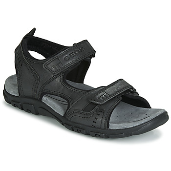 kengät Miehet Urheilusandaalit Geox UOMO SANDAL STRADA Black