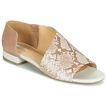 kengät Naiset Sandaalit ja avokkaat Geox D WISTREY SANDALO Beige