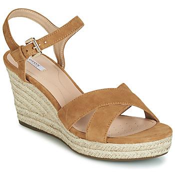 kengät Naiset Sandaalit ja avokkaat Geox D SOLEIL Camel