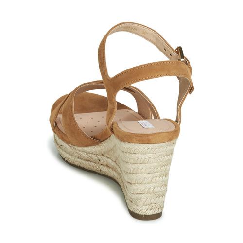 Geox D Soleil Camel - Ilmainen Toimitus- Kengät Sandaalit Naiset 73
