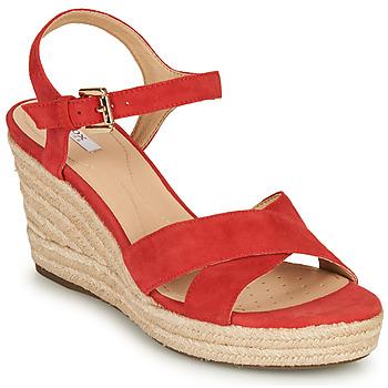 kengät Naiset Sandaalit ja avokkaat Geox D SOLEIL Red / Corail