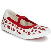 kengät Tytöt Balleriinat Geox J KILWI GIRL White / Red