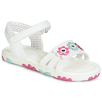 kengät Tytöt Sandaalit ja avokkaat Geox J SANDAL HAITI GIRL White