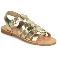 kengät Tytöt Sandaalit ja avokkaat Geox J SANDAL VIOLETTE GI Kulta