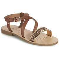kengät Tytöt Sandaalit ja avokkaat Geox J SANDAL VIOLETTE GI Brown