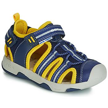kengät Pojat Sandaalit ja avokkaat Geox B SANDAL MULTY BOY Blue / Yellow